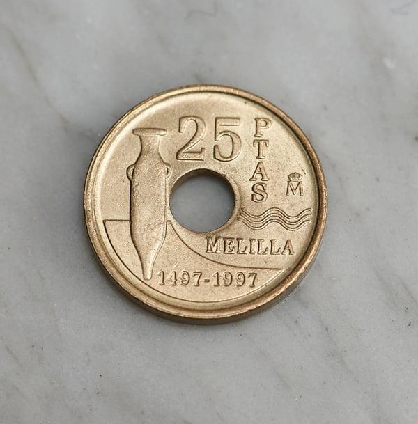 25 Pesetas Melilla 1497