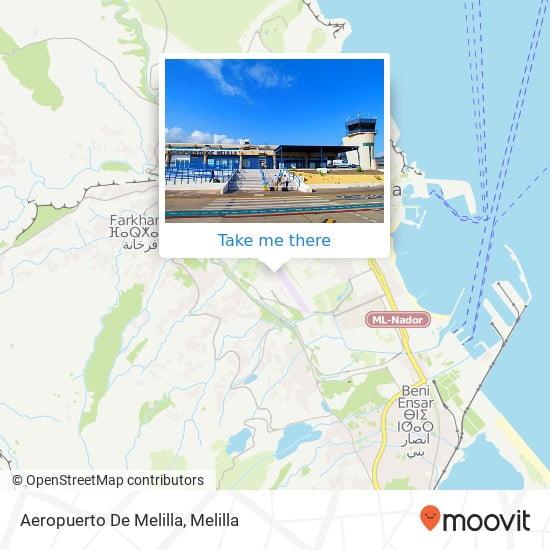 Aeropuerto Melilla Mapa
