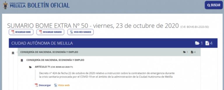 Boletin Oficial De Melilla