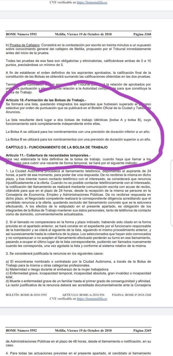 Bolsa De Trabajo Melilla 2018