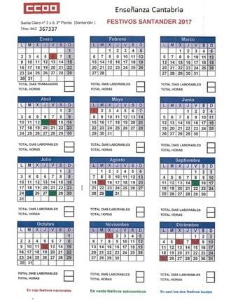 Calendario Escolar 2017 Melilla
