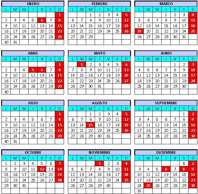 Calendario Laboral 2018 Melilla