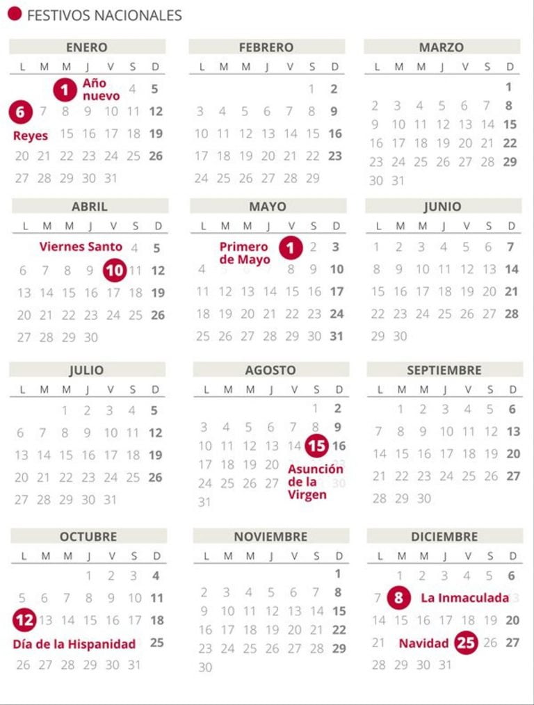 Calendario Laboral Melilla 2020