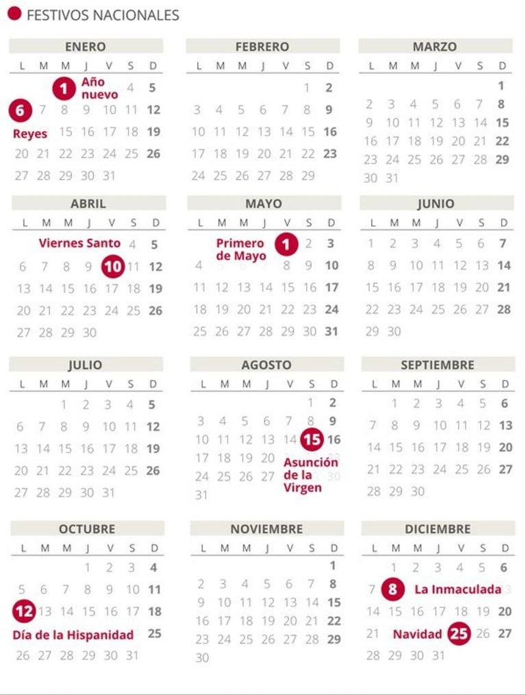 Calendario Laboral Melilla 2020