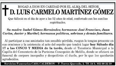 Carmelo Martinez Melilla