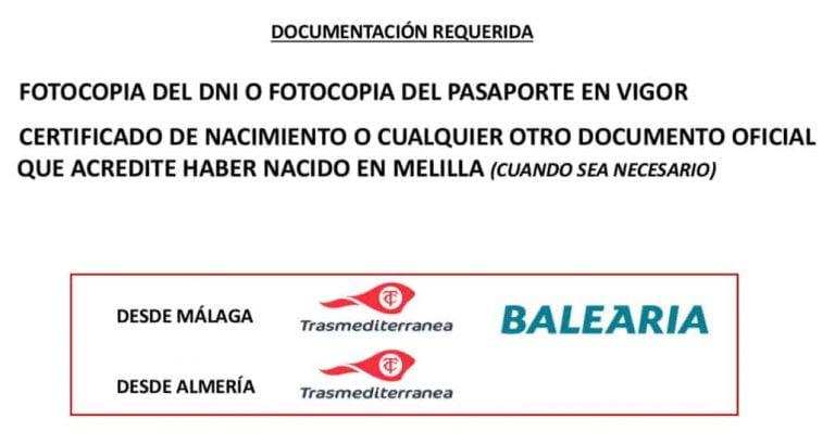 Certificado Residente Melilla