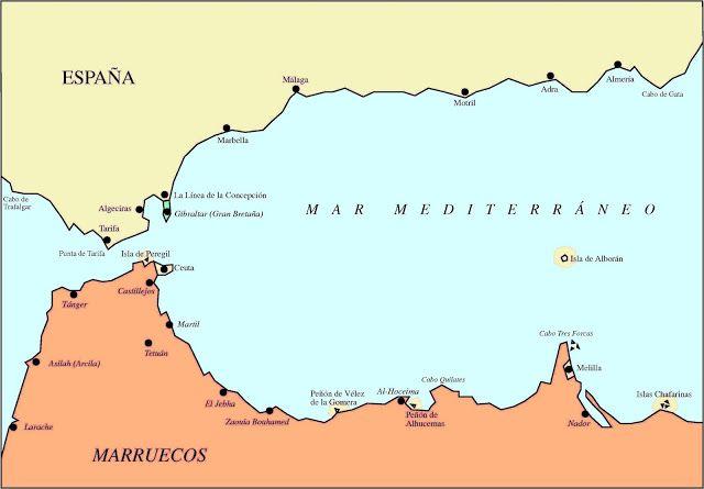 Ceuta Y Melilla Mapa De EspañA