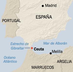 Ceuta Y Melilla Mapa Politico