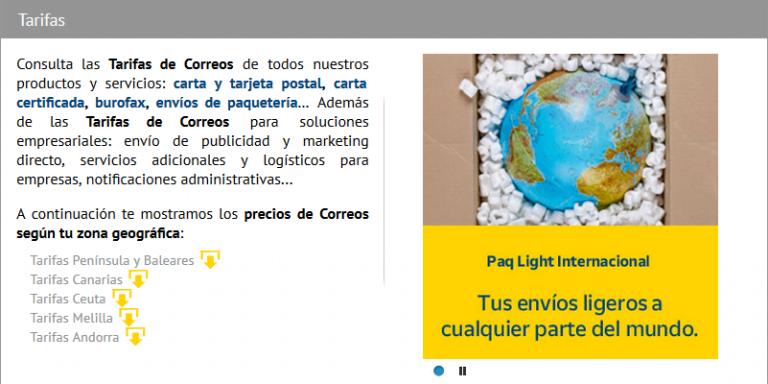Envios A Ceuta Y Melilla Correos