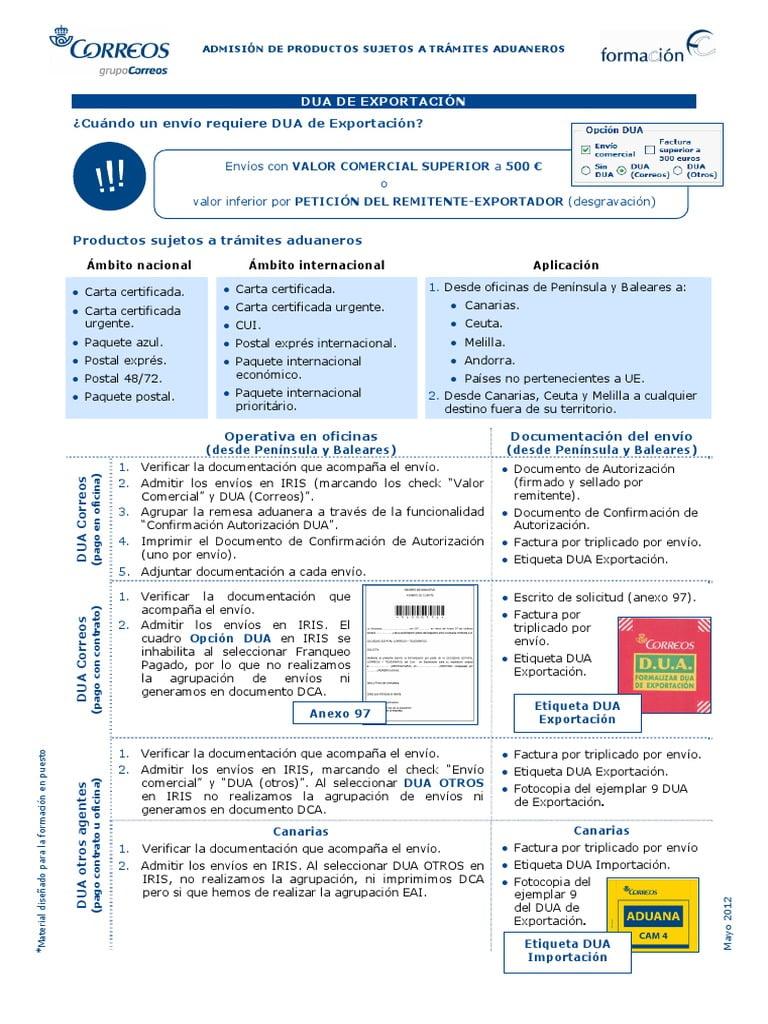 Envios A Melilla Documentacion
