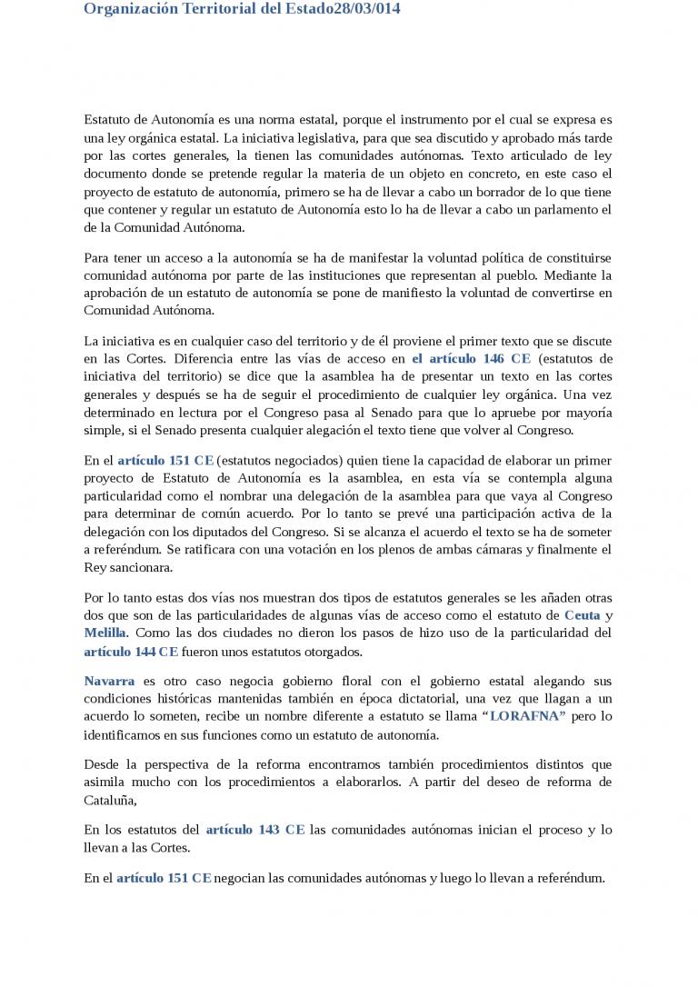 Estatuto De Autonomia De Melilla