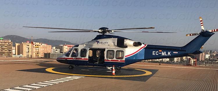 Helicoptero Ceuta Melilla
