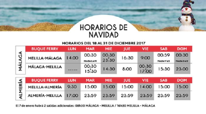 Horario Trasmediterranea Melilla Almeria