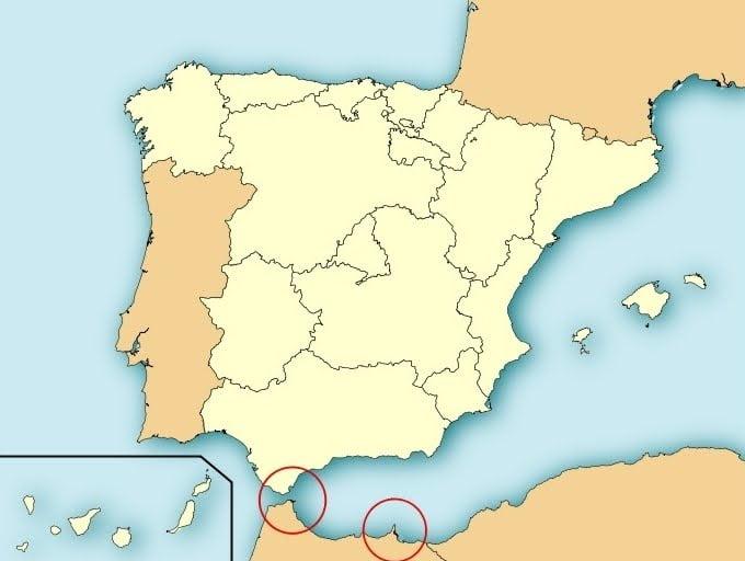 Mapa Ceuta Y Melilla