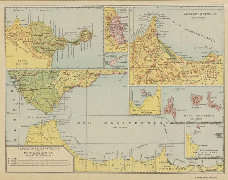 Mapa Melilla EspañA Norte De Africa