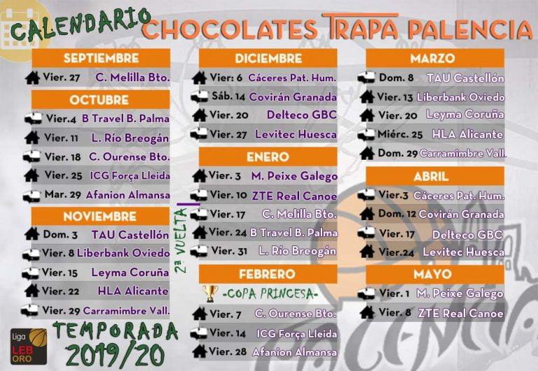 Melilla Baloncesto Calendario