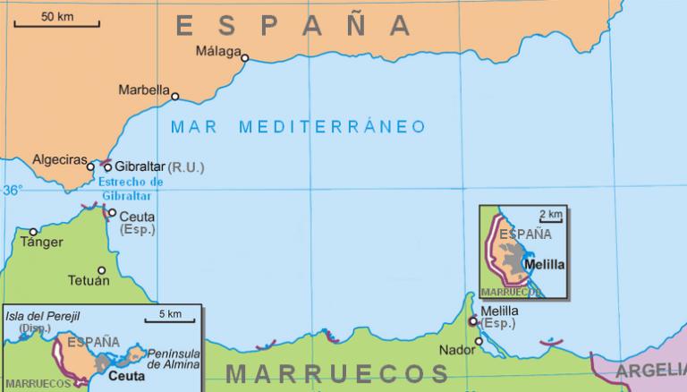 Melilla Y Marruecos Mapa