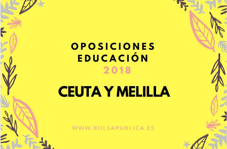 Oposiciones Melilla 2018