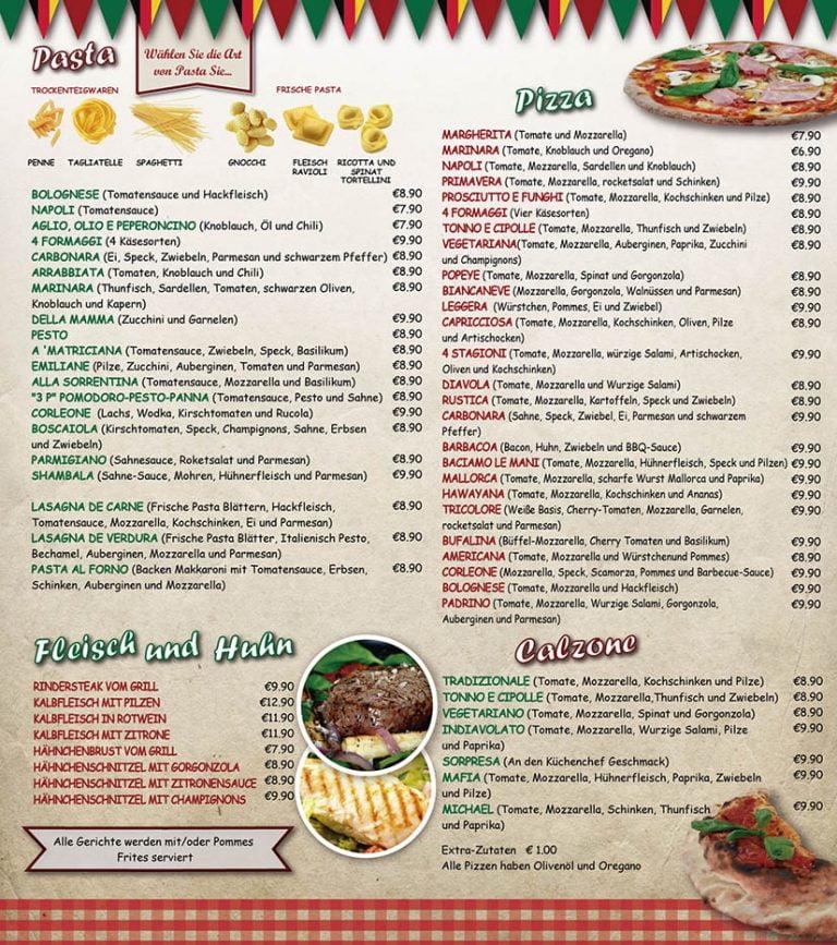 Pizzeria Italia Melilla Carta