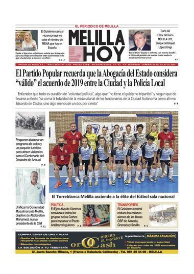 Portada Periodico Melilla Hoy