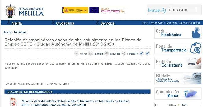 Proximos Planes De Empleo Melilla