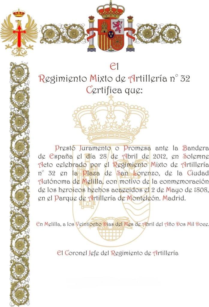 Regimiento Mixto De ArtilleríA 32 Melilla