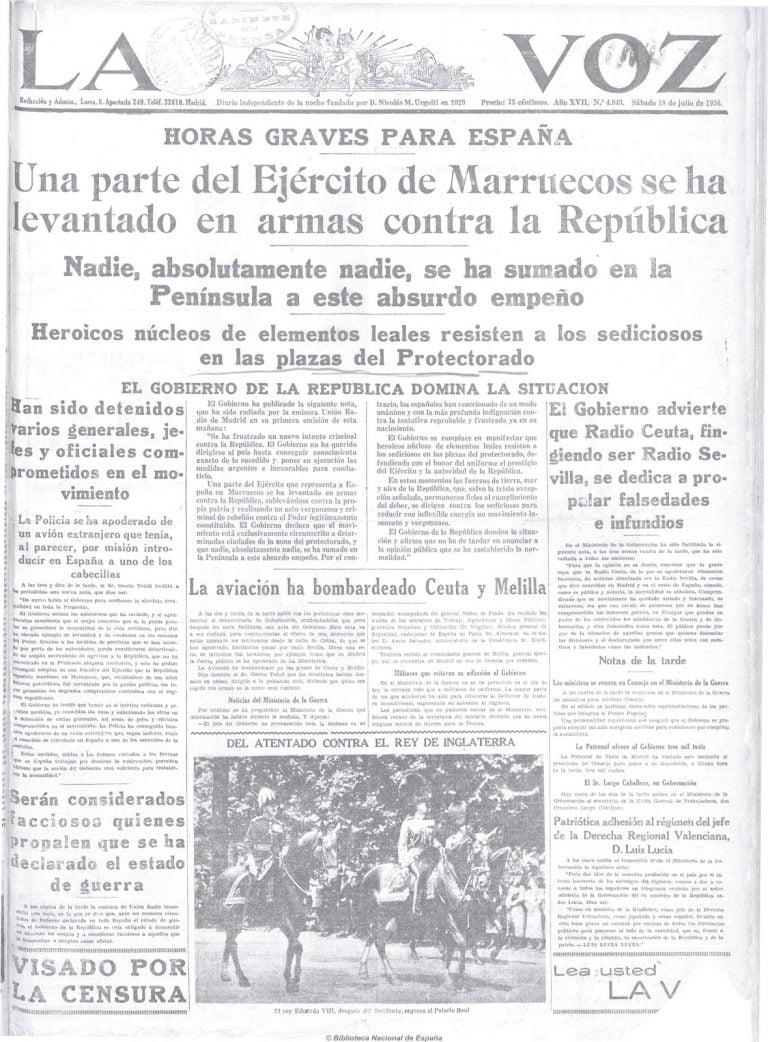 SublevacióN Militar Del 17 De Julio De 1936 En Melilla