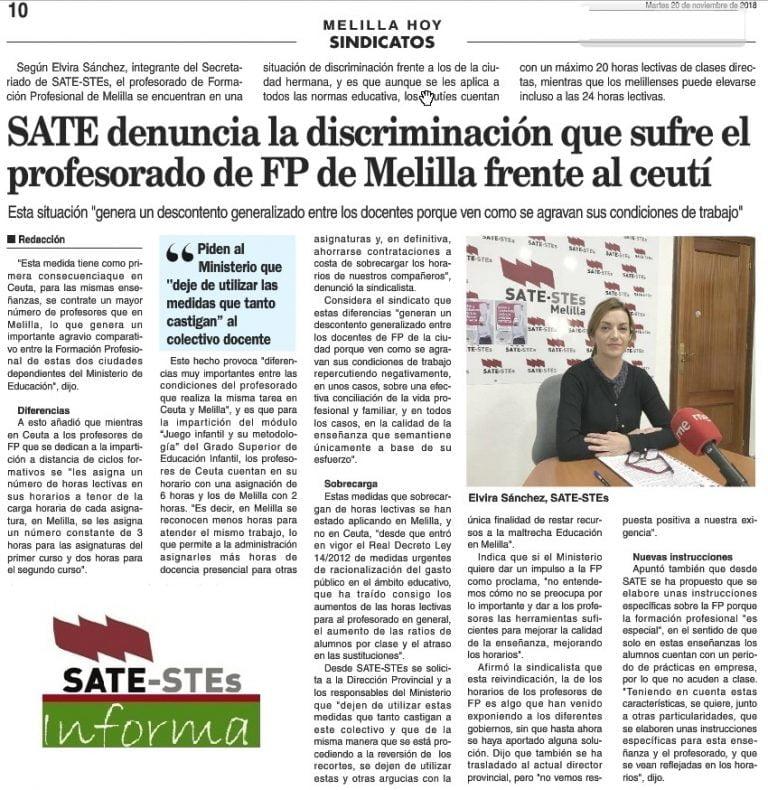 Trabajo En Melilla 2018