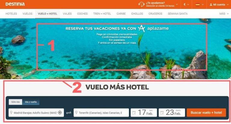 Vuelo Mas Hotel Melilla